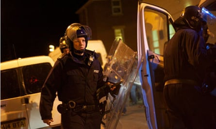 Gloucester riot police