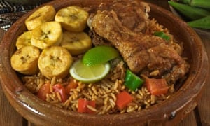 Jollof rice and fried chicken West Africa Food