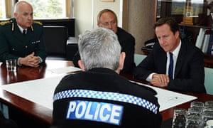 David Cameron meets police chiefs in Wolverhampton