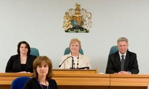 Magistrates at Lyndhurst magistrates court. Photo: Daniel Rushall