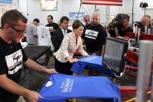 Republican rally in Iowa: Clive, Iowa: Republican presidential candidate Michele Bachmann