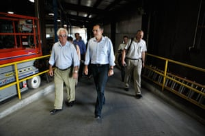 Republican rally in Iowa: Humboldt, Iowa: Republican U.S. presidential candidate Tim Pawlenty