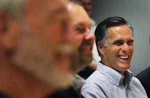 Republican rally in Iowa: Pella, Iowa: Presidential hopeful Mitt Romney