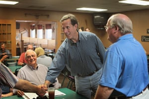 Republican rally in Iowa: Manchester, Iowa: Rick Santorum, former U.S. Senator from Pennsylvania