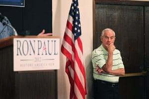 Republican rally in Iowa: Cedar Rapids, Iowa: Republican presidential hopeful Ron Paul