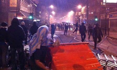 Rioters in Tottenham