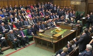 David Cameron speaks during the emergency session of parliament