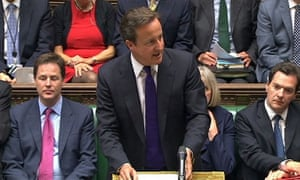David Cameron gives state to Commons in response to riots