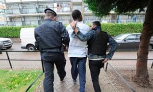 police arrest estate