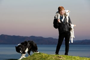 Sarah Boden: Sarah Boden with Isla the collie