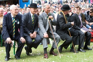 Prince Charles: Prince Charles with judges and stewards at the Great Yorkshire Show