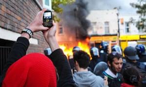 Riots in Hackney