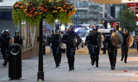 Riot police Manchester