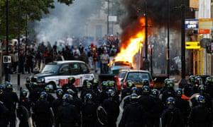Police officers in Hackney