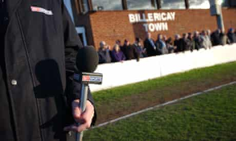 reporter at game