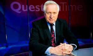 Question Time presenter David Dimbleby