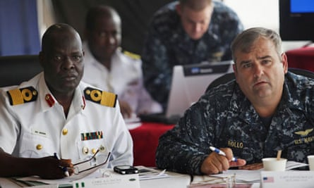 US and Nigerian naval officials meet to discuss the increased risk to shipping from pirates