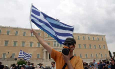 Protester in Athens