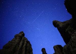24 hours in pictures: Kuklici, Macedonia: A meteor streaks past stars
