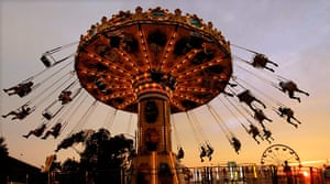 24 hours in pictures: Springfield, Illinois: The sun sets at the Illinois State Fair