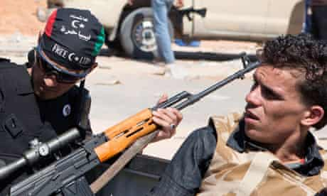Libyan rebels in Zawiya