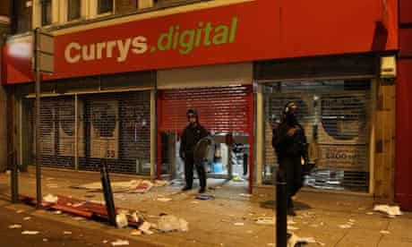 Looted shops in London
