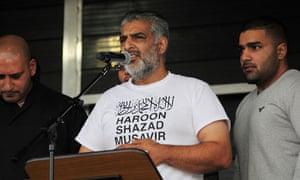 Tariq Jahan at a peace rally in Birmingham