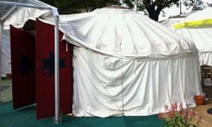Edinburgh book festival yurt