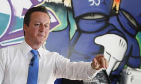 David Cameron speaks at a youth centre in his Witney constituency, in Oxfordshire