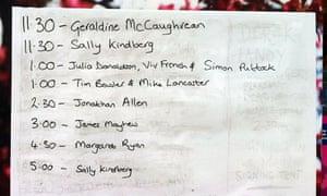 Edinburgh book festival day four: children's signing tent times