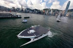 Solar-powered catamaran: Record-breaking solar-powered catamaran arrives in Hong Kong
