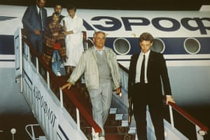 Moscow  coup: 22 August: President Mikhail Gorbachev returns to Moscow's Vnukovo airport