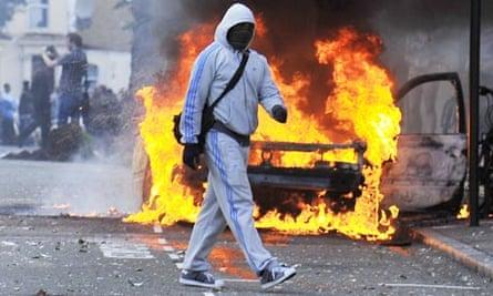 Rioting in Hackney, London