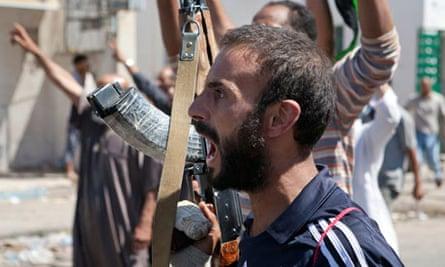 Libya rebels in Zawiya