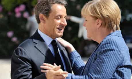 Nicolas Sarkozy and Angela Merkela