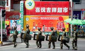 Chinese security forces in Urumqi, Xinjiang