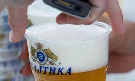 A glass of Baltika beer