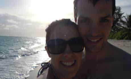 Gemma and Ian Redmond on honeymoon in the Seychelles