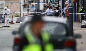 The crime scene in Winson Green, Birmingham