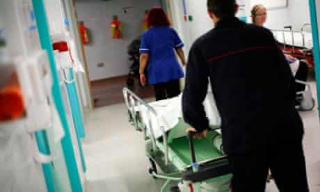 NHS hospital staff at work