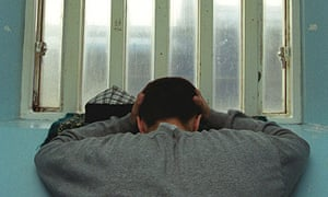 Young inmate in a prison cell, Portland Young Offenders Institution