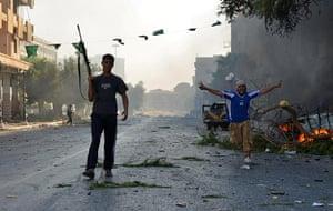 Libya: Libyan rebels in Zawiyah