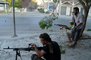 Libya: Libyan rebel fighters in Zawiyah