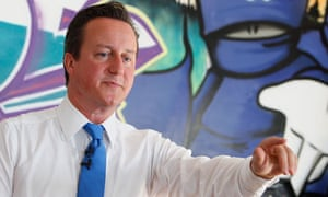 David Cameron at a youth centre in Witney