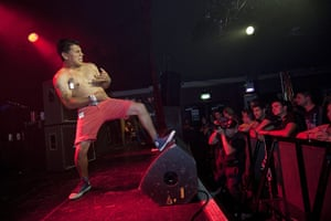 24 hours in pictures: Tor, one of the finalists performs, at The Garage London