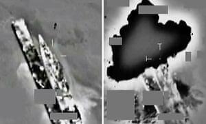 Libyan frigate destroyed in an RAF air strike