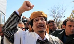 Muammar Gaddafi in Tripoli