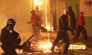 Rioting in Tottenham, north London