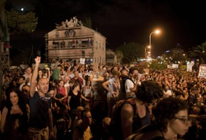 FTA: Oded Balilty: Thousands of Israelis march during a protest