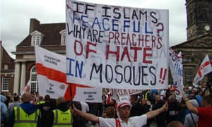 An EDL march in Telford, held 13 August 2011